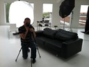 Behind the scenes photo of Thomas Holm Photographer in a studio environment